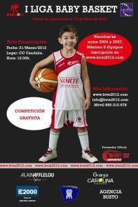 Cartel Oficial I Liga Baby Basket